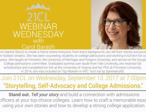 Storytelling, Self-Advocacy, and College Admissions
