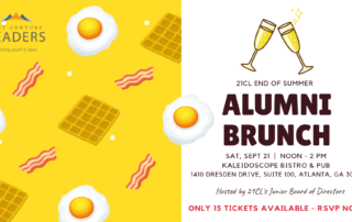 21CL Alumni End of Summer Brunch Flyer